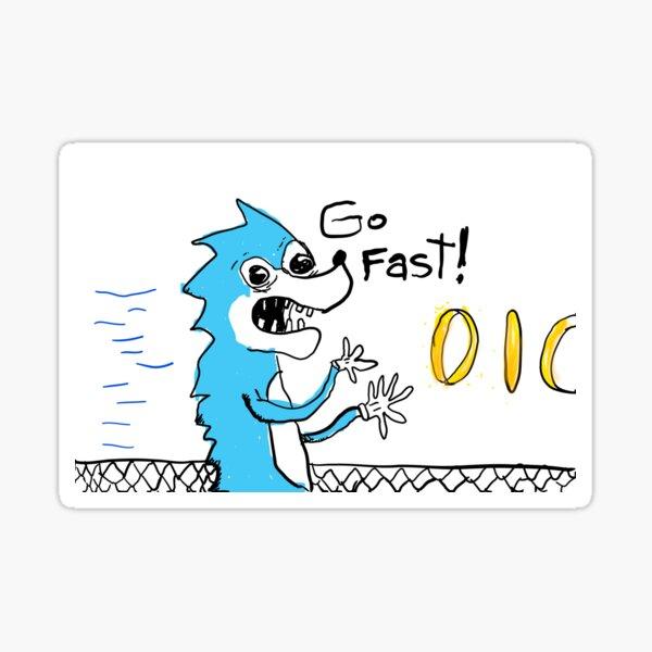 Go Fast! Sticker