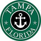 TAMPA FLORIDA ROUND ANCHOR NAUTICAL STAR  by MyHandmadeSigns