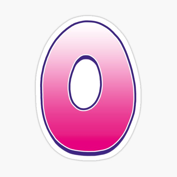 Letter O Pink Sticker
