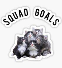 Squad Goals Kittens Sticker
