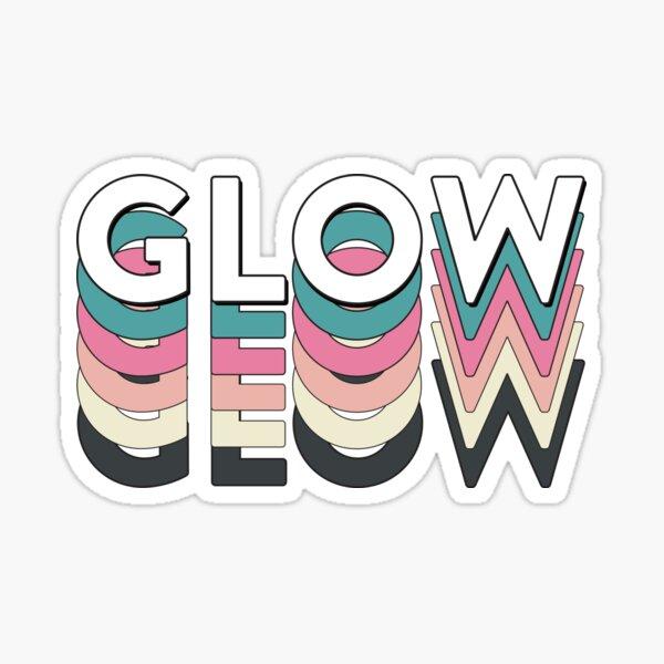 glow-yo lettering Sticker