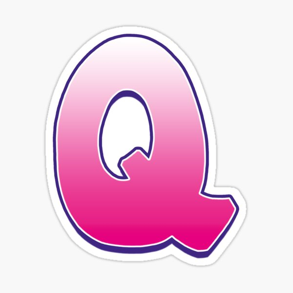 Letter Q Pink Sticker