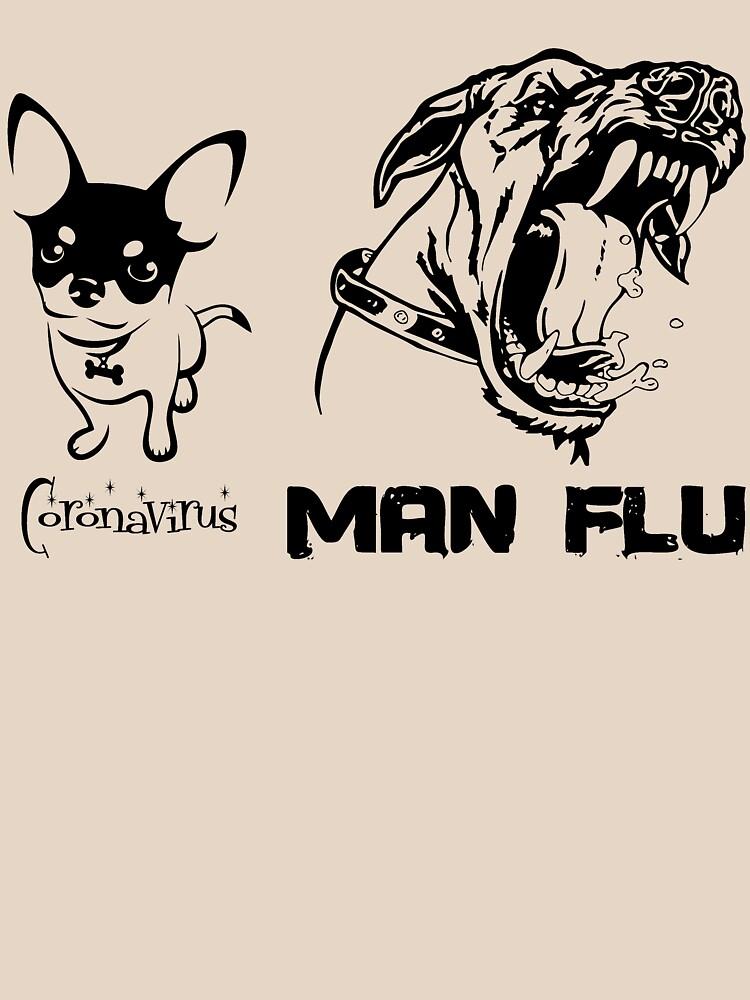 Coronavirus COVID-19 Man Flu Dogs Comparison by BOLD-Australia