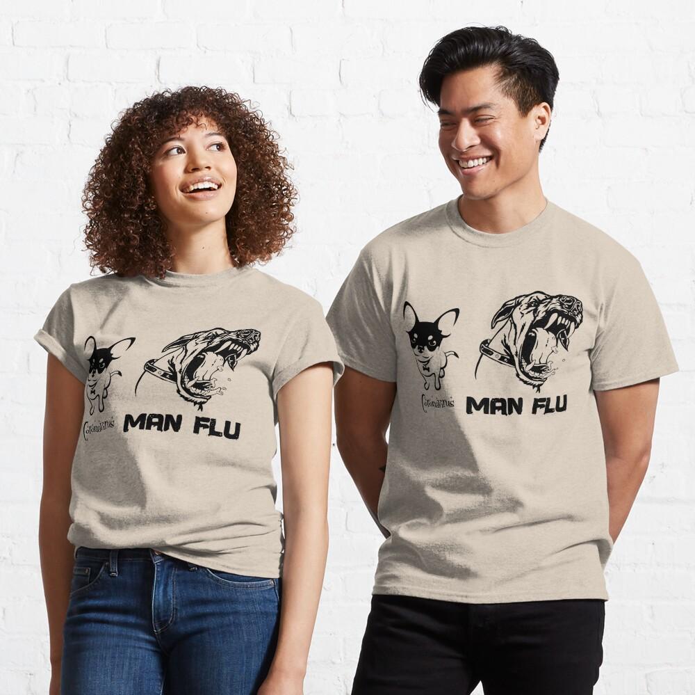 Coronavirus COVID-19 Man Flu Dogs Comparison Classic T-Shirt