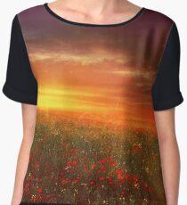 sunset landscape Chiffon Top