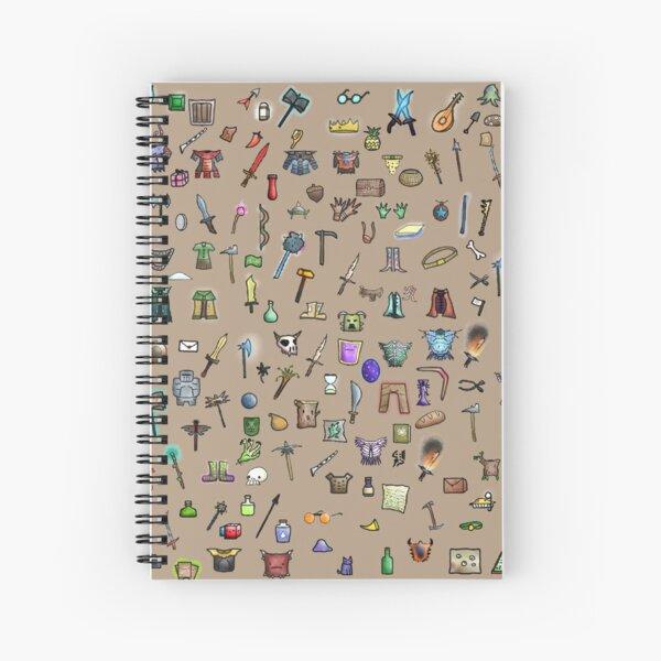 Spilled Bag of Holding Spiral Notebook