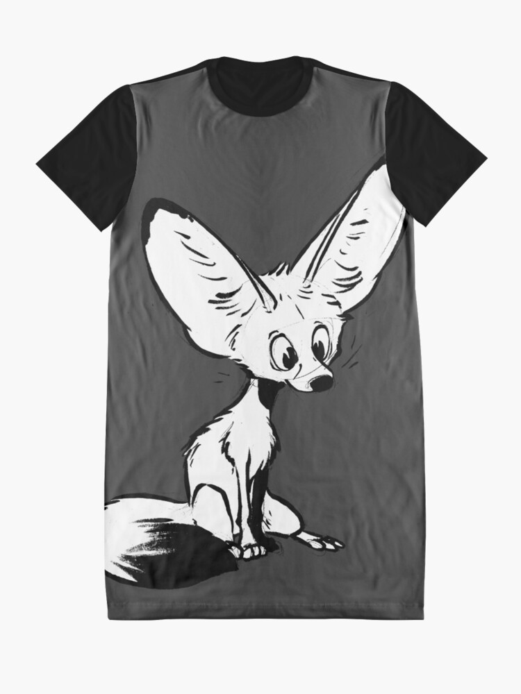 Alternate view of Fennec Graphic T-Shirt Dress
