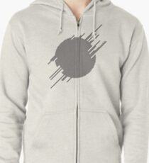 ABshapes in a disc  Zipped Hoodie