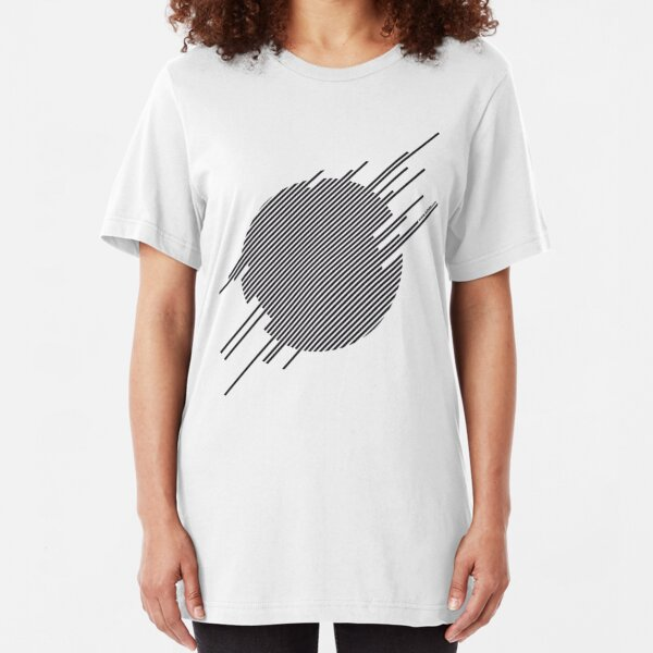 ABshapes in a disc  Slim Fit T-Shirt