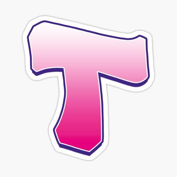 Letter T Pink Sticker