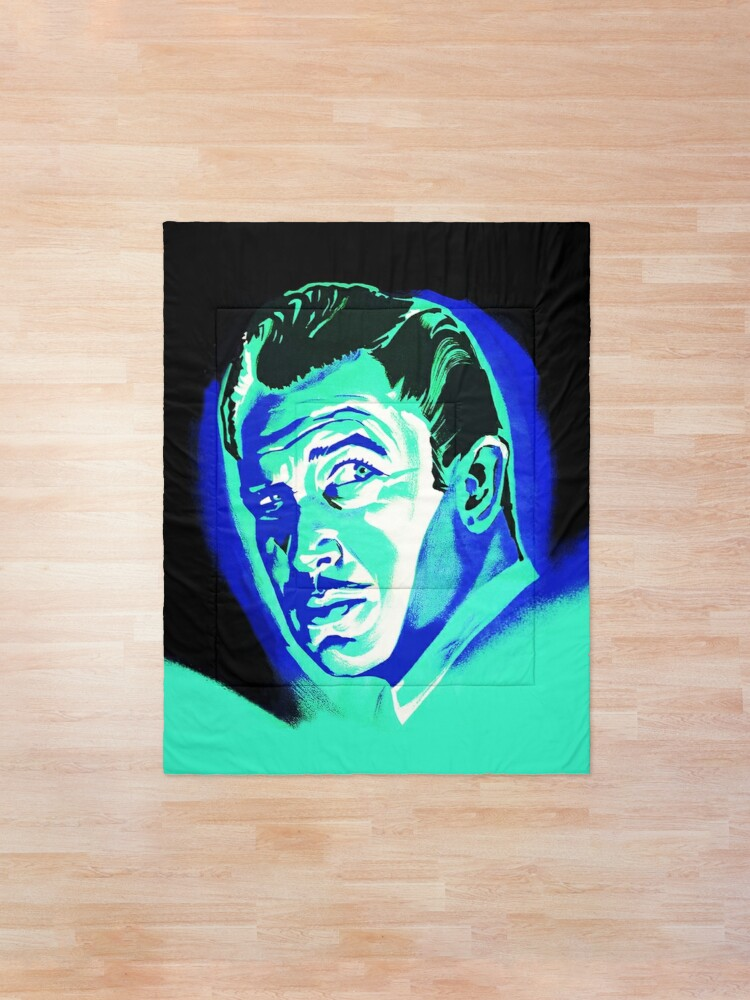 Alternate view of Vincent Price (Blue) Comforter