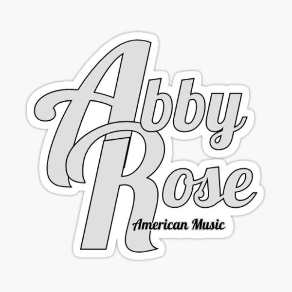 Abby Rose - American Music wordage Sticker