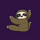 Climbing Sloth by zachsymartsy