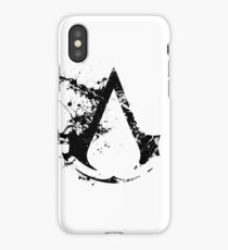 Splatter Paint Assassins Creed Logo iPhone Case/Skin