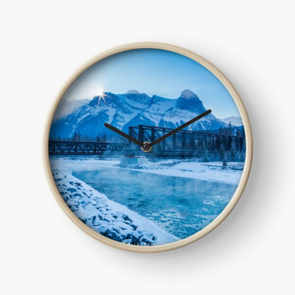 Blue Afternoon Clock