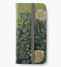 Vincent Van Gogh - Wild roses, Famous Painting. Impressionism. Van Gogh iPhone Wallet