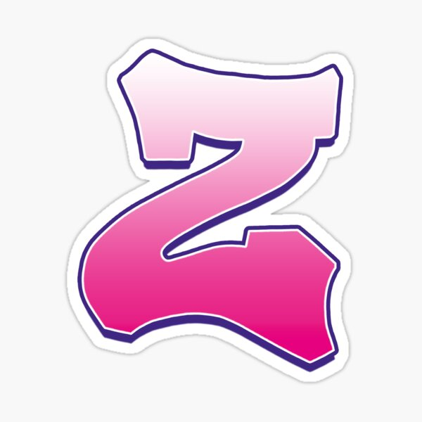 Letter Z Pink Sticker