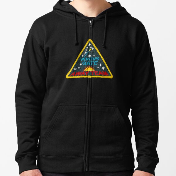 Faded Version / Heaven's Gate Cult #5 Away Team Patch Design T-Shirt Zipped Hoodie