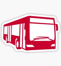 Red bus Sticker