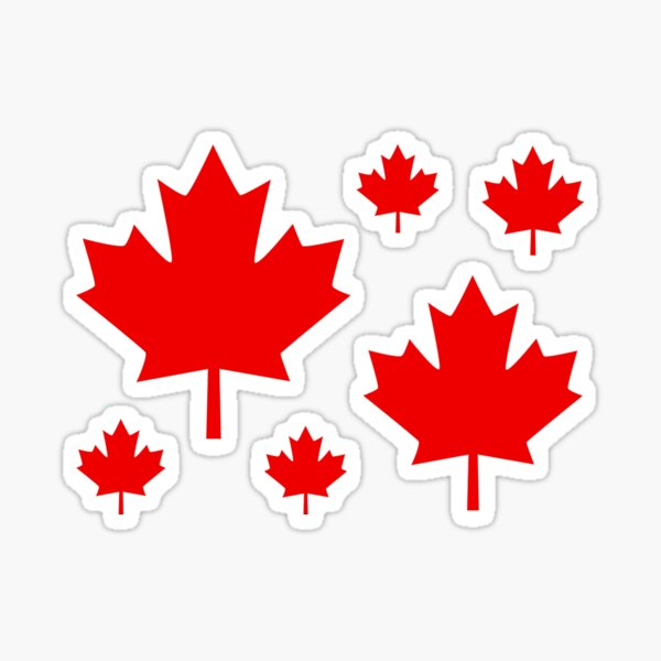 Canada Maple Leaf Flag Emblem Sticker