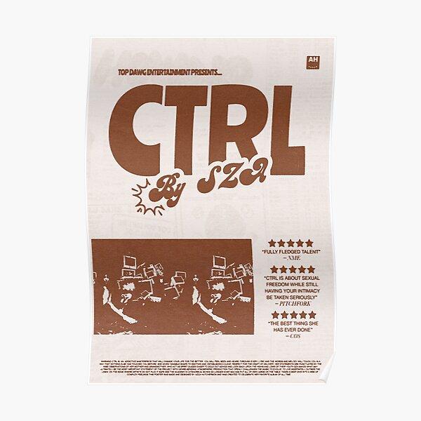 "Album Print - ""Ctrl"" by SZA (Brown/Beige) Poster"