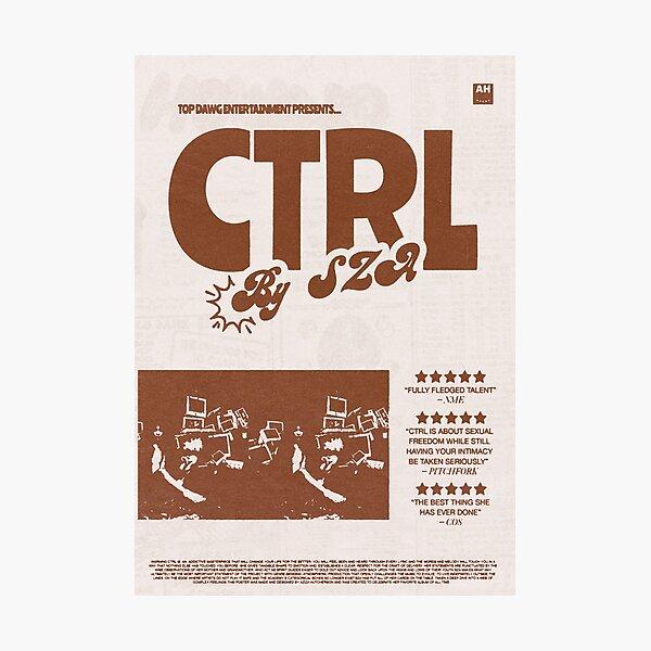 "Album Print - ""Ctrl"" by SZA (Brown/Beige) Photographic Print"