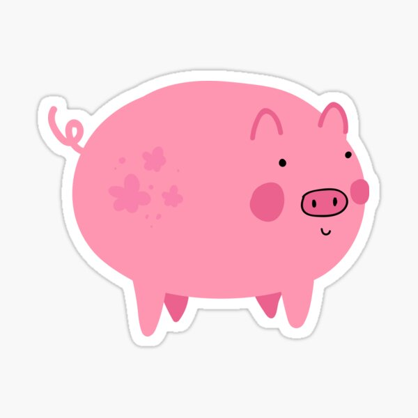 hi, i am ok piggy Sticker