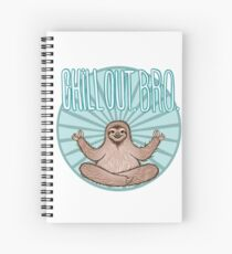 Chill Out Sloth Spiral Notebook