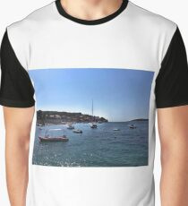 Boats In Dubrovnik - Croatia Graphic T-Shirt