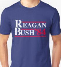 Reagan Bush '84 Retro Logo Red White Blue Election Ronald George 1984 84 T-Shirt