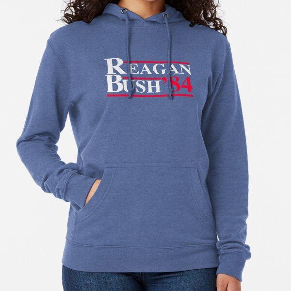 Reagan Bush '84 Retro Logo Red White Blue Election Ronald George 1984 84 Campaign T Shirt Hoodie Sticker Retro 80s 1980s Throwback Lightweight Hoodie
