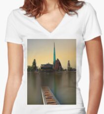 Swan Bell Tower - Perth Western Australia Women's Fitted V-Neck T-Shirt