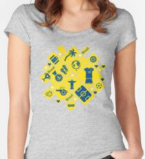 Brazil football icons Women's Fitted Scoop T-Shirt