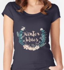 Winter Blues 004 Women's Fitted Scoop T-Shirt