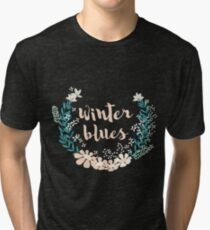Winter Blues 004 Tri-blend T-Shirt