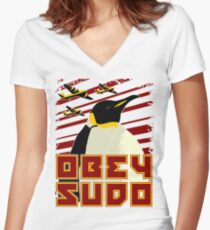 Obey SUDO Women's Fitted V-Neck T-Shirt
