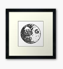 Fungi night Framed Print