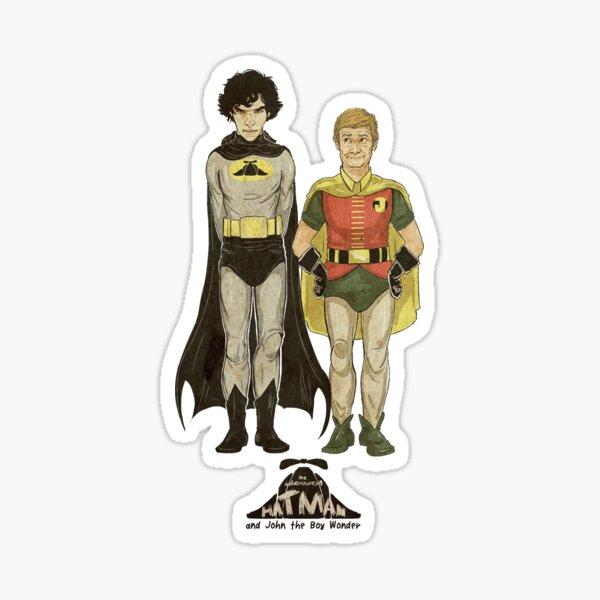 The Adventures of Hat-man and John the Boy Wonder Sticker