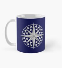 Chrome Style Nautical Compass Star Mug