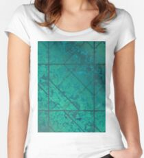 Green Marble Texture G294 Women's Fitted Scoop T-Shirt