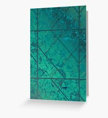 Green Marble Texture G294 Greeting Card