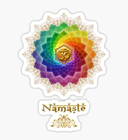Rainbow Lotus Om Namasté Sticker
