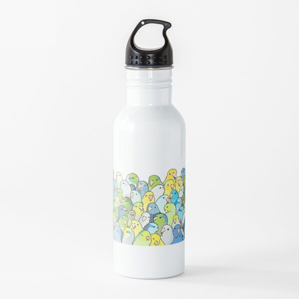 Parrotlet whole group shot Water Bottle