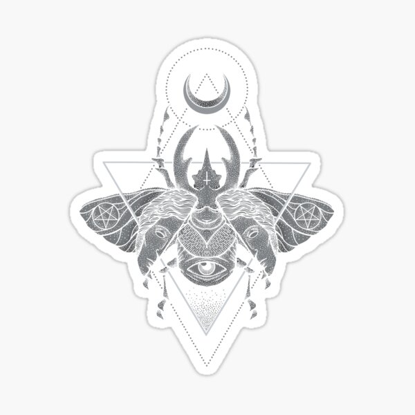 Occult Beetle Sticker