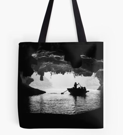 Rowing into the Cave Tote Bag