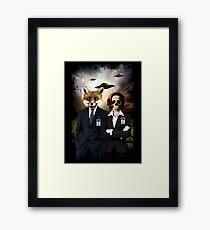 Fox and Skully Framed Print
