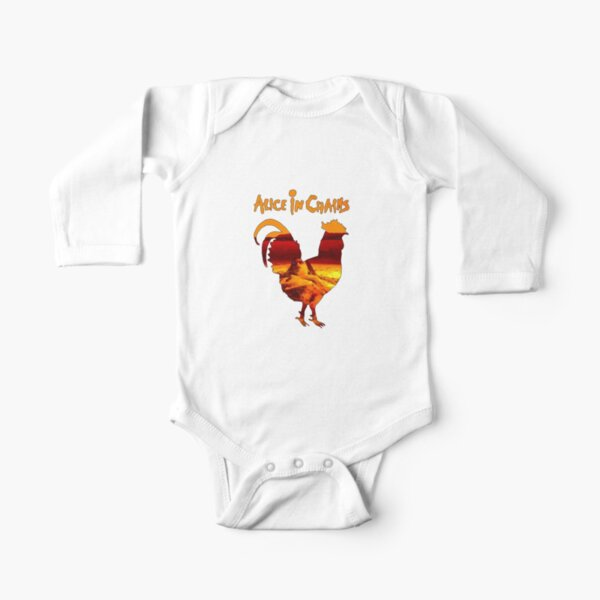 Mountain Trend Rooster American Flag Baby Bodysuit Long Sleeve Climbing Suit Gray