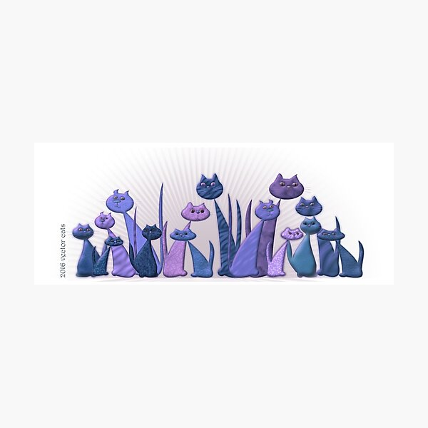 Vector Cats 2016 10th aniversary edition v5 Photographic Print