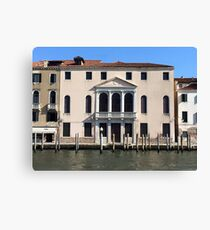 Hotel on Venice Canal Canvas Print