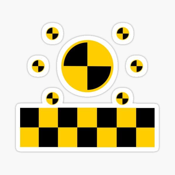 Crash Test Markings Sticker